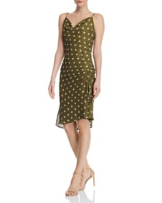 CHRISELLE LIM - Cowl-Neck Polka Dot Slip Dress